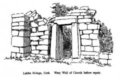 West Wall of Church Before Repair