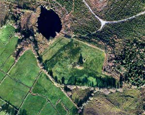 Aerial view of Black Pig's Dyke