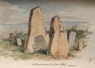 Du Noyer painting of St. Erc's Tomb