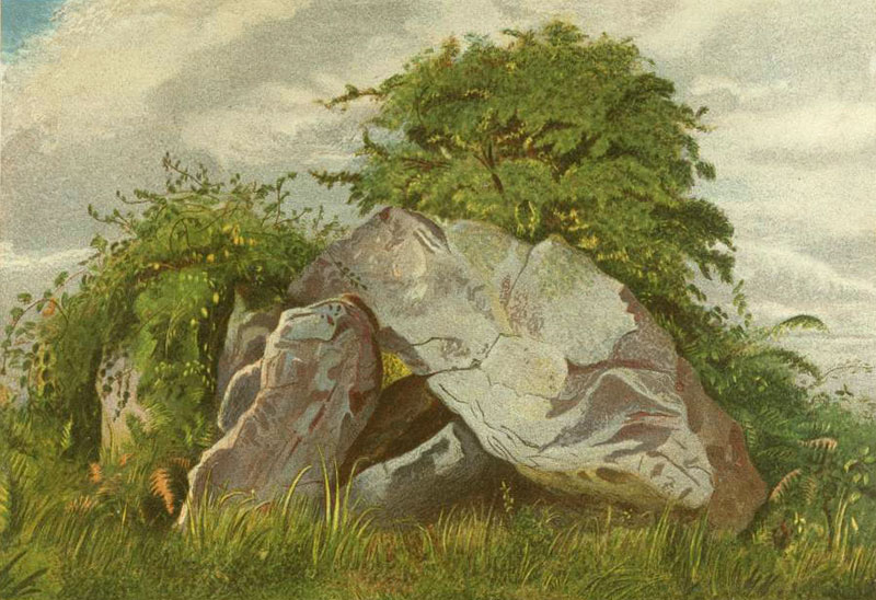 The Cromlech on Howth , by Margaret Stokes, 1861.