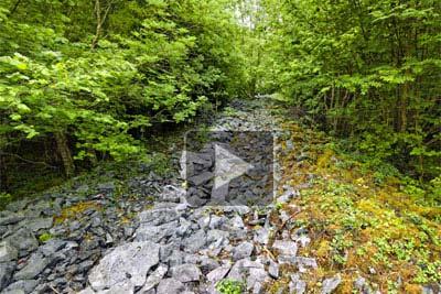 VR of Mooghaun hillfort walls
