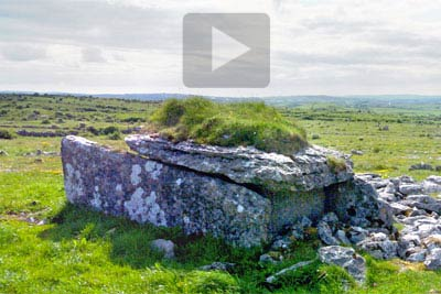 VR of Parknabinnia Wedge Tomb